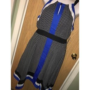 Printed chiffon hanky hem dress